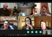 Virtual meeting of the Volunteers of God of La Tuque